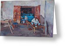 Old Shop Suakin Greeting Card