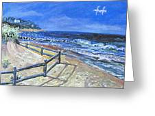Old Silver Beach Greeting Card