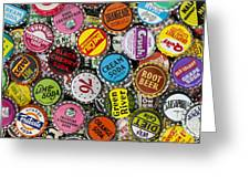 Old Soda Caps  Greeting Card by Tim Gainey