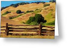 Old Split Rail Fence Greeting Card by Michael Pickett