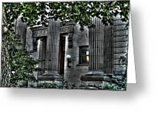 Old Spokane Library W.1st Greeting Card