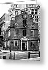 Old State House In Boston Greeting Card