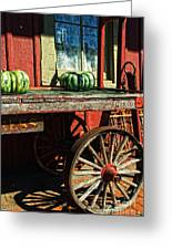 Old Station Cart Greeting Card