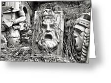 Old Statues In Skopje Greeting Card