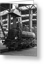 Old Steam Locomotive Greeting Card