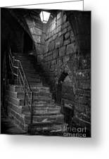 Old Steps In Chester England Greeting Card