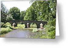 Old Stone Arch Bridge Greeting Card