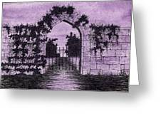 Old Stone Archway  Greeting Card