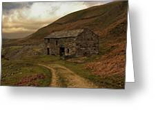 Old Stone Barn Greeting Card