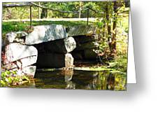 Old Stone Bridge Greeting Card by Barbara McDevitt