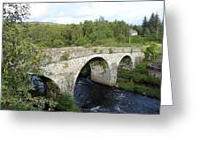 Old Stone Bridge In Scotland Greeting Card