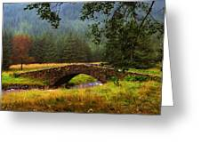 Old Stone Bridge Over Kinglas River. Scotland Greeting Card