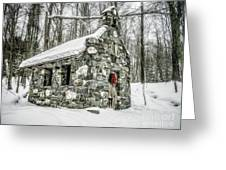 Old Stone Chapel Stowe Vermont Greeting Card