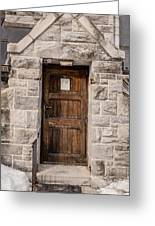 Old Stone Church Door Greeting Card by Edward Fielding