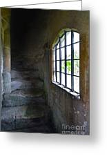 Old Stone Staircase Greeting Card