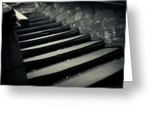 Old Stone Stairway Greeting Card