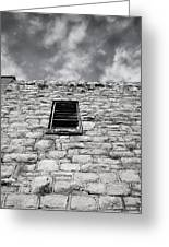 Old Stone Wall Black And White Photograph Greeting Card