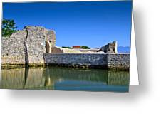 Old Stone Walls Of Nin Town Greeting Card