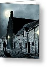 Old Street In England Greeting Card