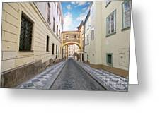 Old Street In Prague Greeting Card
