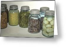 Old Style Vintage Kitchen Glass Jar Canning Greeting Card