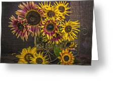 Old Sunflowers Greeting Card