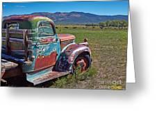 Old Taos Pickup Truck Greeting Card