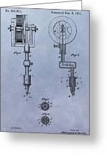 Old Tattoo Gun Patent Greeting Card