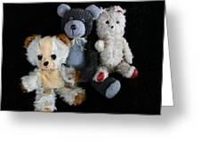 Old Teddy Bears Greeting Card