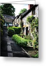 Old Terrace Houses - Peak District - England Greeting Card