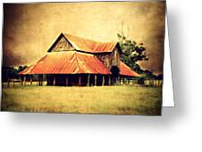 Old Texas Barn Greeting Card by Julie Hamilton