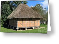 Old Thatched Barn Britain Greeting Card