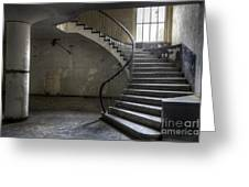 Old Theater Stairs Greeting Card