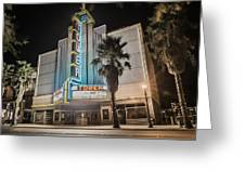 Old Theatre In Roseville California...  Greeting Card by Israel Marino