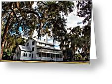 Old Thursby Plantation House Greeting Card