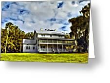Old Thursby Plantation House Two Greeting Card