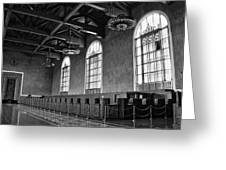 Old Ticket Counter At Los Angeles Union Station Greeting Card