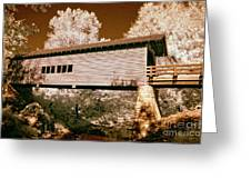 Old Time Covered Bridge Greeting Card