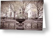 Old Time Fountain Greeting Card