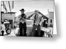 Old Time Musicians Bw Greeting Card