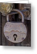 Old Time Padlock Greeting Card