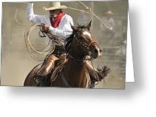 Old Time Ranch Rodeo Greeting Card