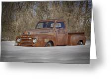 Old Timer In Color Greeting Card