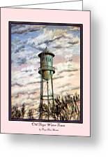 Old Tioga Water Tower Print Greeting Card