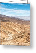 Old Toll Road Landscape In Death Valley Greeting Card