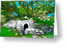 Old Tomb In The Countryside Ireland Greeting Card