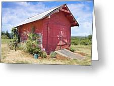 Old Tool Shed Red Barn Greeting Card