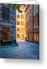 Old Town Alley Greeting Card