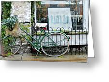 Old Town Bike Stop Greeting Card
