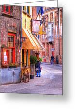 Old Town Bruges Belgium Greeting Card